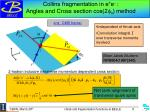 collins fragmentation in e e angles and cross section cos 2 f 0 method