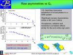 raw asymmetries vs q t