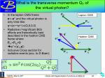 what is the transverse momentum q t of the virtual photon