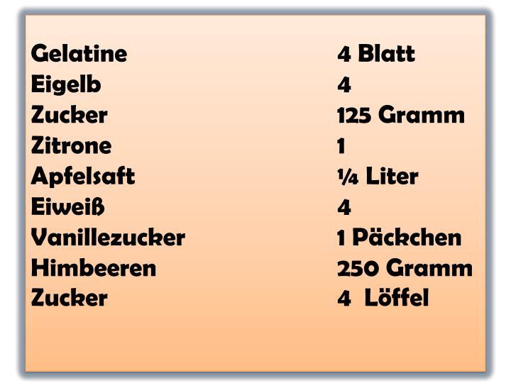 Gelatine4 Blatt