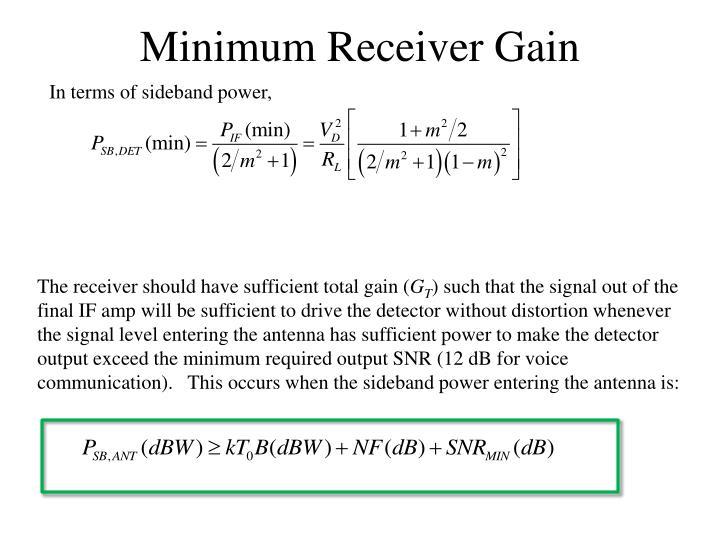 Minimum Receiver Gain