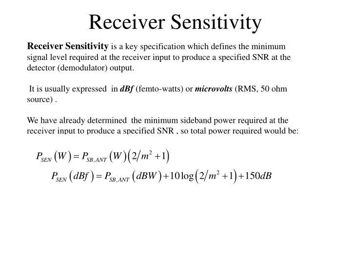 Receiver Sensitivity