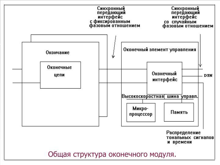 Общая структура оконечного модуля.