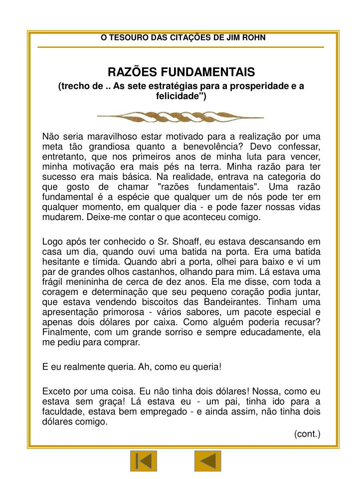 RAZÕES FUNDAMENTAIS