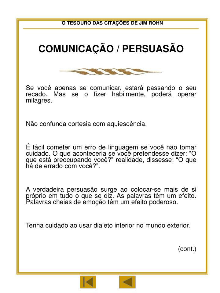 COMUNICAÇÃO / PERSUASÃO