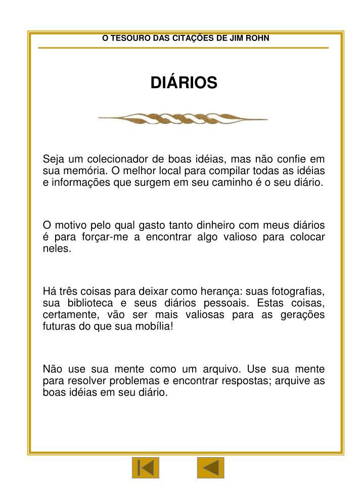 DIÁRIOS