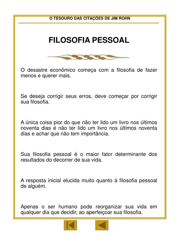 FILOSOFIA PESSOAL