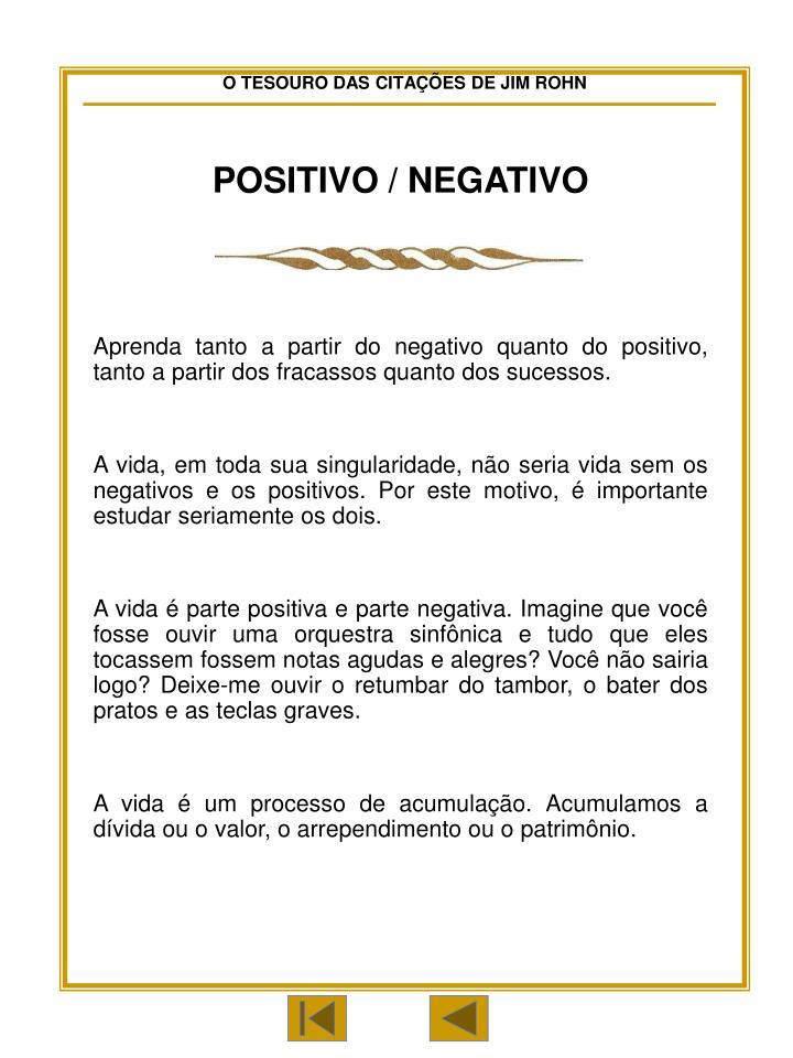 POSITIVO / NEGATIVO