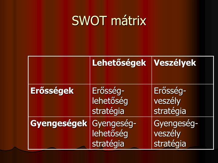 SWOT mátrix