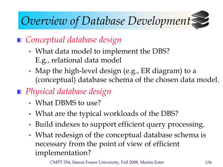 Overview of database development1