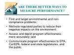 are there better ways to measure performance
