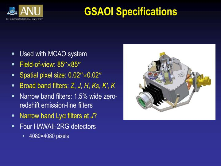 GSAOI Specifications