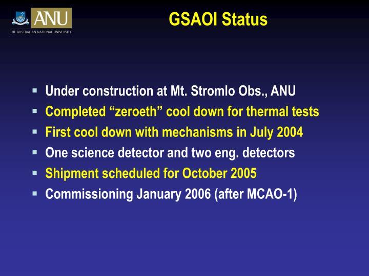 GSAOI Status