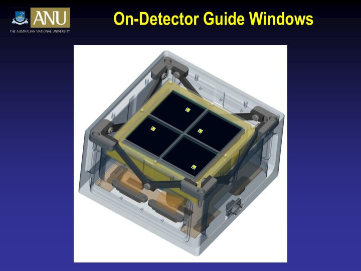 On-Detector Guide Windows