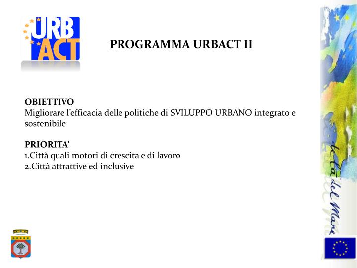 PROGRAMMA URBACT II