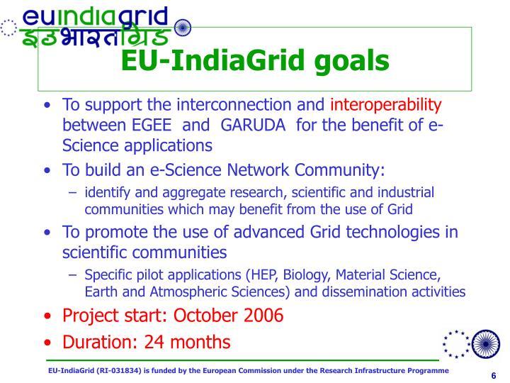 EU-IndiaGrid goals