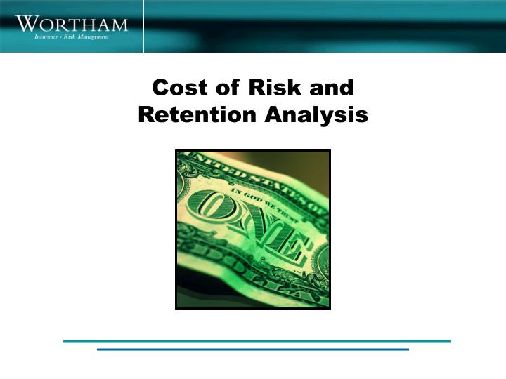 Cost of Risk and