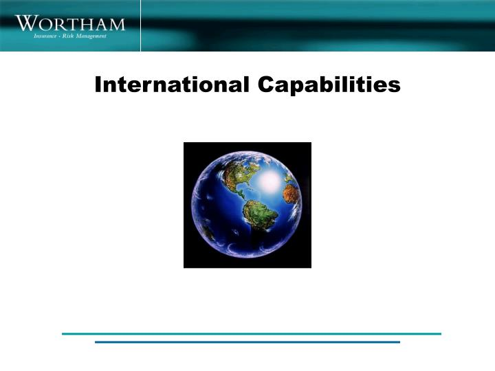 International Capabilities