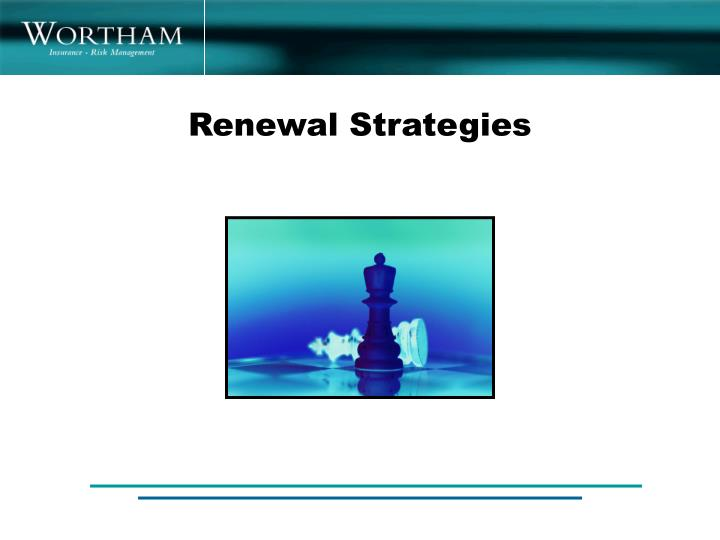 Renewal Strategies