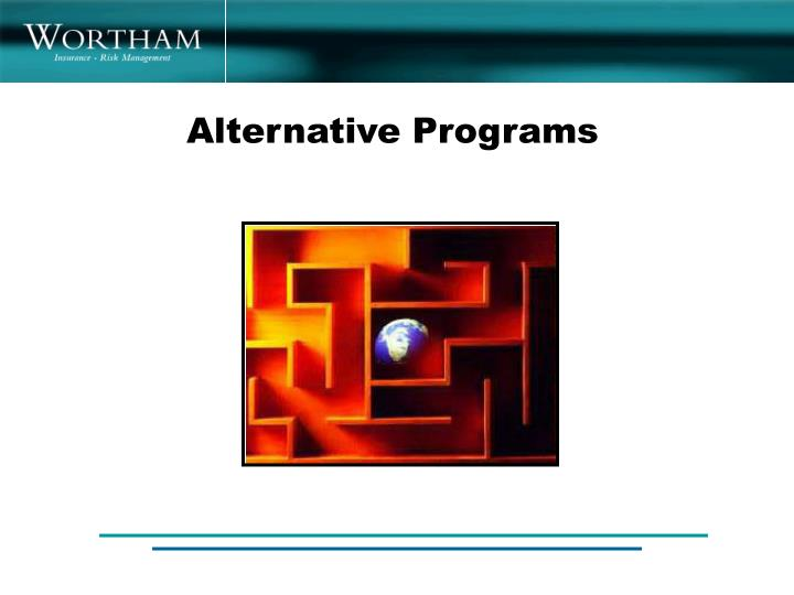 Alternative Programs
