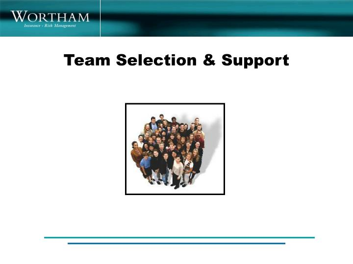 Team Selection & Support