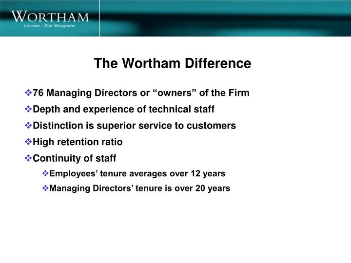 The Wortham Difference