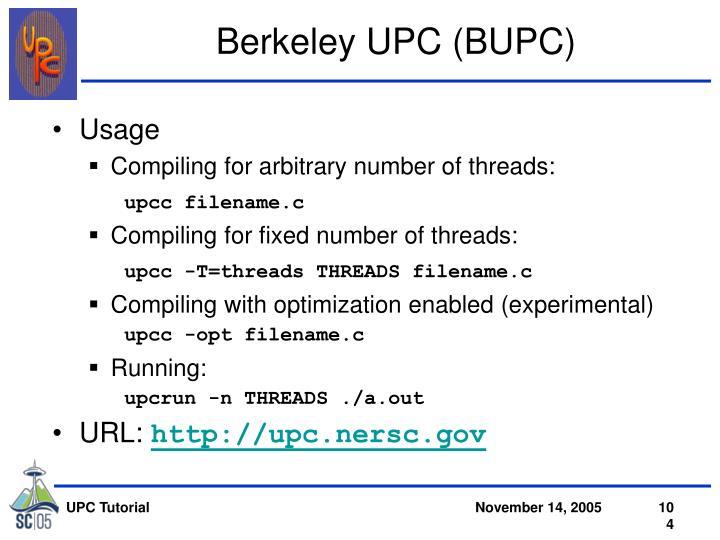 Berkeley UPC (BUPC)