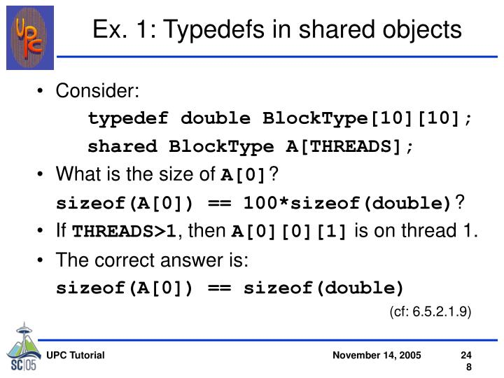 Ex. 1: Typedefs in shared objects