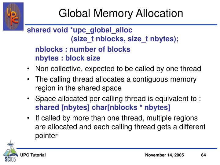 Global Memory Allocation