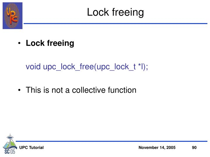 Lock freeing