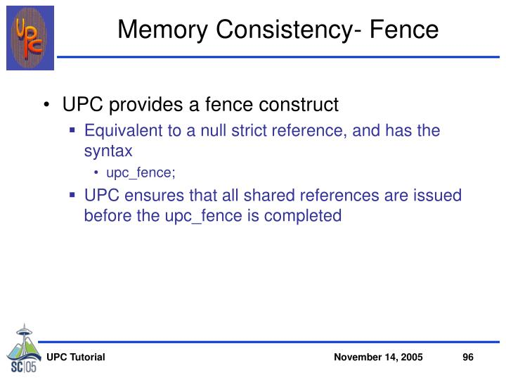 Memory Consistency- Fence