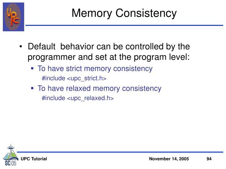 Memory Consistency