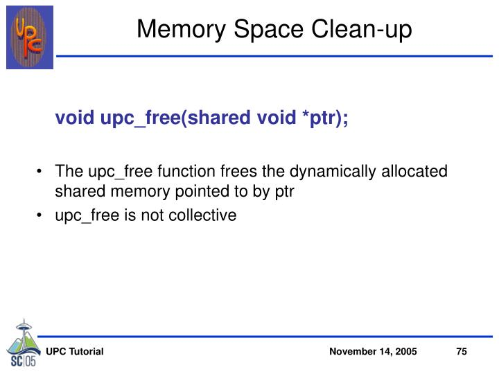 Memory Space Clean-up