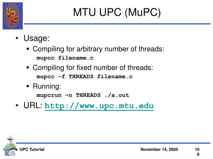 MTU UPC (MuPC)