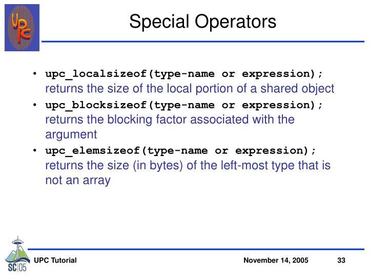 Special Operators