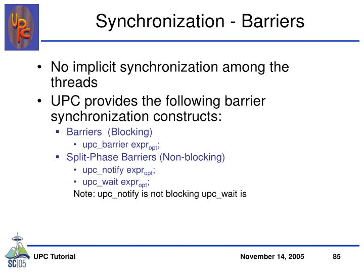 Synchronization - Barriers
