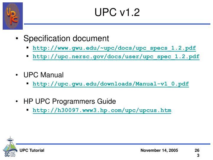UPC v1.2
