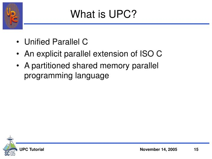 What is UPC?
