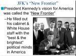 jfk s new frontier