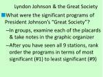 lyndon johnson the great society