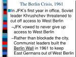 the berlin crisis 1961