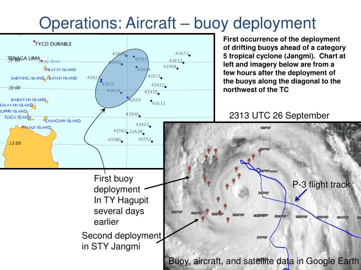 Operations: Aircraft – buoy deployment
