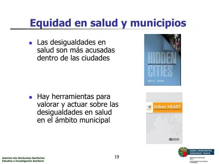 Equidad en salud y municipios