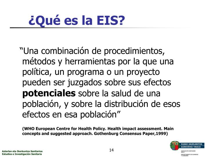 ¿Qué es la EIS?
