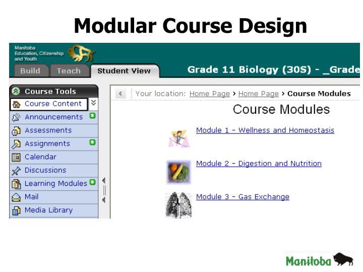 Modular Course Design