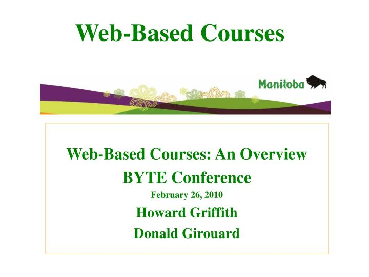 Web-Based Courses