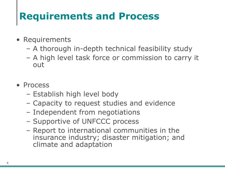 Requirements and Process