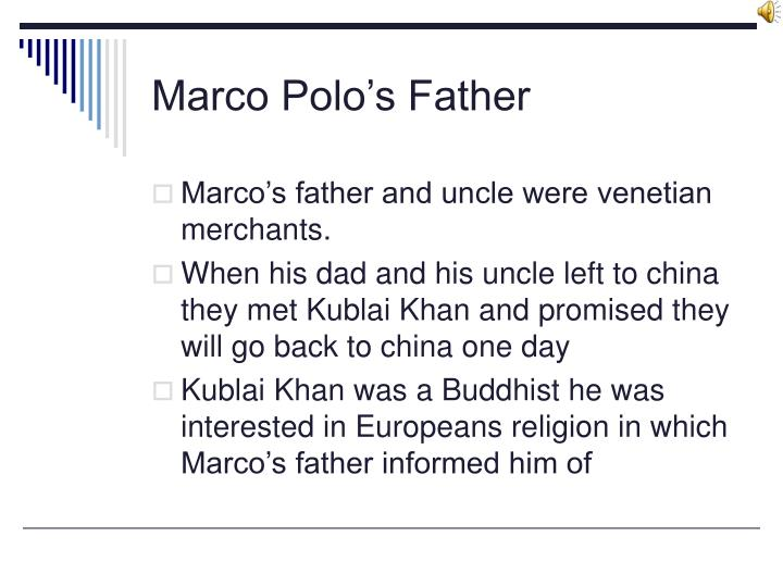 Marco polo s father