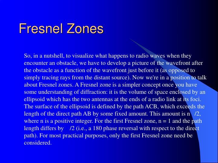 Fresnel Zones