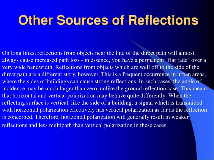 Other Sources of Reflections